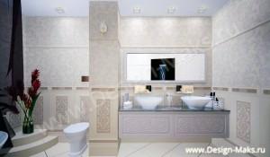 Дизайн ванной в таунхаусе