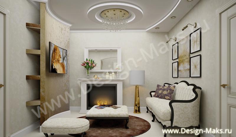 Дизайн однокомнатной квартиры с нишей + 33 фото интерьера